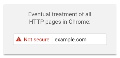 Advertencia de página no segura en Google Chrome 56